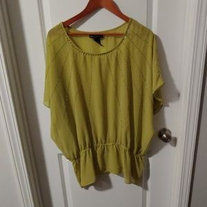 NWOT Lane Bryant green see through shirt
